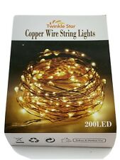Twinkle Star 200 LED Copper Wire Fairy Garden Decor Light Set Warm White NEW