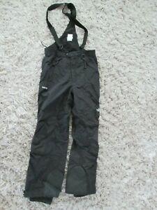 North Face Gore Tex black bib full-zip snow pants mens size XL