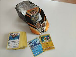 Zufällige Pokemon Tin Box plus 100 Karten   Deutsch   Pokemonkarten