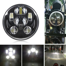 """5-3/4"""" 5.75Inch 60W Black Projector LED Headlight For Sportster Dyna Motorcycle"""