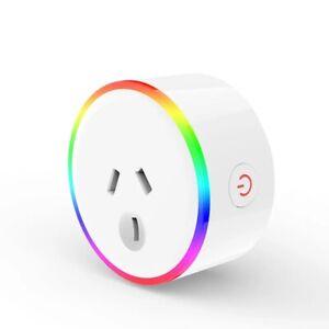 Tuya 240V 10A AU Plug Smart RGB LED Light Smart Wifi Socket Voice Control Works