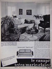 PUBLICITÉ 1964 LE CANAPÉ TRÉCA MARIE CLAIRE NOUVEAUTÉ DANS LE VENT - ADVERTISING