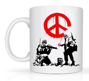 Banksy Make peace not War Tea Coffee Ceramic Mug Gift