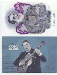 2010/2020 Argentina Two postcards Carlos Gardel MNH