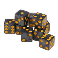 10x 16mm D6 Dice Six Sided Dies Cube Acrylic for KTV Club TRPG MTG Toy Gray