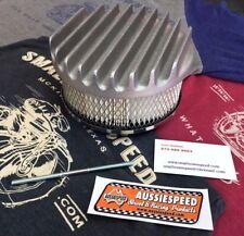AussieSpeed 6 3/4 BIG FINNED Cast Aluminum AIR CLEANER filter 4bbl 2bbl 2x4