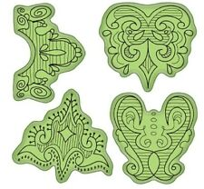 Inkadinkado Stamping Gear Doodle Borders Design Cling Rubber Stamp