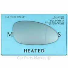 Right side Blue Wide Angle Wing door mirror glass for Porsche 968 92-95 heated