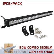 "25"" 120W Single Row LED Epistar Combo light bar Truck 4WD Boat UTE Driving QQ"