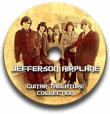 JEFFERSON AIRPLANE ROCK GUITAR TAB TABLATURE SONG BOOK SOFTWARE CD