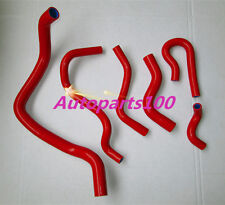 FOR 6PCS HONDA CIVIC D15 D16 EG/EK 1992-2000 SILICONE RADIATOR HOSE KIT RED