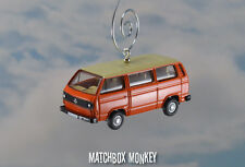 1:76 Volkswagen T25 Bus Van Transporter VW Type 2 Christmas Ornament Bay Window