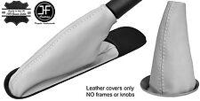 WHITE TOP GRAIN LEATHER GEAR & HANDBRAKE BOOT FOR BMW MINI COOPER R55 R56 R57
