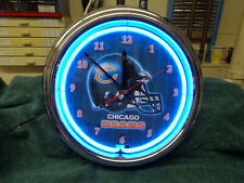 CHICAGO BEARS NEON CLOCK WITH POWER ADAPTER