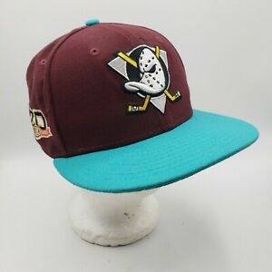 Anaheim Ducks New Era 59fifty 20th Anniversary Fitted Hat Size 7
