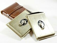 Rollei Cut Film-Plate Holders in Leather case TLR Cameras Rolleicord Rolleiflex
