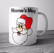 Personalised Mug / Cup - Santa 2 - Christmas Gift / Secret Santa  - Any NAME