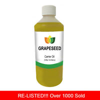 500ml GRAPESEED OIL STAR BUY PREMIUM Cold Pressed Natural Carrier/Base