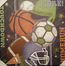 """CIRCO WALL CANVAS ALL SPORTS OOPSY DAISY ART PICTURE NEW 21 X 21"""""""