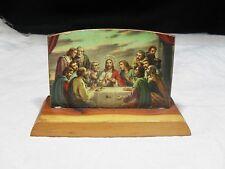 "Vintage Souvenir ~ Wooden Table Top Sign ~ ""The Last Supper"""