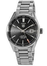 New Tag Heuer Carrera Calibre 7 Twin Time Automatic Men's Watch WAR2010.BA0723