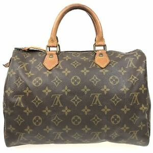 100% Authentic Louis Vuitton Monogram Speedy 30 Handbags M41526 [USED] {04-191C}