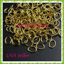 8x5mm 50pcs Gold Plated Oval Jump Rings Jewelry Findings Open Earrings