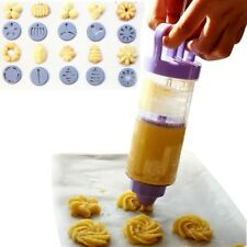 Cookies Biscuit Mould Gun Decorating Gun 12 Flower Mould 6 Decorating Mouth