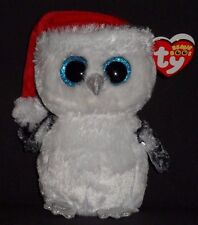"""TY BEANIE BOOS - TINSEL the 6"""" CHRISTMAS OWL - CLAIRE'S EXCL - MINT w/ MINT TAG"""