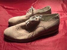 Michael Shannon #313209 Grayson Beige Suede Wingtip Shoes Size 13 SC8
