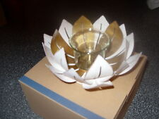 PartyLite GILDED LOTUS VOTIVE CANDLE HOLDER NIB