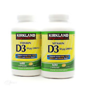 Kirkland Signature Vitamin D3 2000 I.U. 600 Capsules Exp 01/2023 - FREE POSTAGE