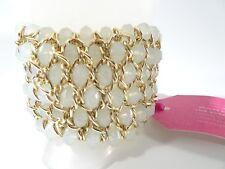 Ann Taylor Breast Cancer Awareness Sparkle Bracelet NWT $59 OPAL
