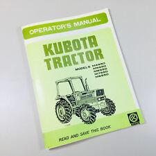 KUBOTA M4950DT M5950DT M6950DT M7950DT M8950DT OPERATORS OWNERS MANUAL TRACTORS