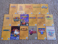 Nintendo 64 N64 Instruction Manuals! You Choose from Selection! Mario, Zelda