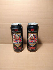 2 empty cans of IRON MAIDEN TROOPER BEER Robinson's collectible limited edition