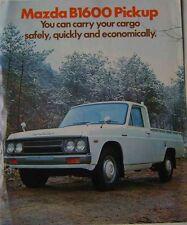 Mazda B1600 Pickup 1973 Large Format Original UK Sales Brochure