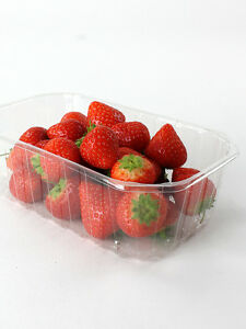 400 x Clear PET 1 Pound Fruit Punnet, ideal for fruits, nuts, berries.