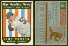 (15874) 1959 Topps 138 John Romano-Rookie Stars White Sox-EM