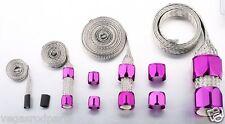 Staineless steel hose sleeving kit braided hose covering radiator purple fuel va