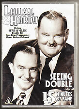 LAUREL & HARDY - SEEING DOUBLE / 15 MINUTES OF FAME - 75 MINS - NEW & SEALED DVD