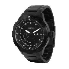 Meister Diver One DO103SS Men's Black/Metal Band Analog Wristwatch MSTR Watch