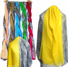 New women's scarf scarves shawl large wrap zebra print winter multi color