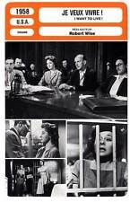 FICHE CINEMA : JE VEUX VIVRE - Hayward,Oakland,Wise 1958 I Want To Live !
