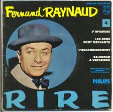 FERNAND RAYNAUD Vinyle 45T EP N° 4 J'MAMUSE - GENS SONT MECHANTS -PHILIPS 432096