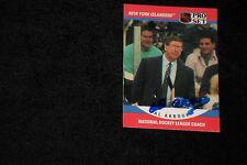 HOF AL ARBOUR 1990-91 PRO SET SIGNED AUTOGRAPHED CARD #671 NY ISLANDERS