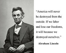 "Abraham Lincoln "" if we falter and lose"" Quote 8 x 10 Photo Picture # nm2"