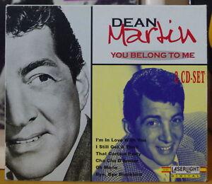 DEAN MARTIN YOU BELONG TO ME DOUBLE COMPACT DISC DIGIPAK LASERLIGHT RECORDS 1999
