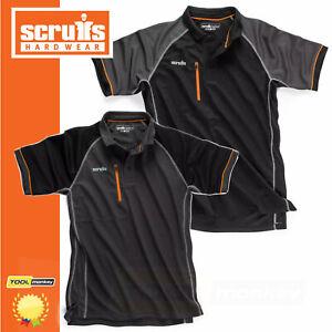 Scruffs Trade Active Polo Shirt Black or Grey (Sizes M-XXL) Men's Work T-Shirt