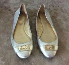COACH 'Plaza' Gold Ballet Flats size 9